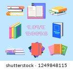 books with tassel or set of... | Shutterstock .eps vector #1249848115