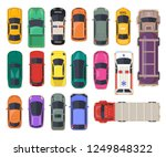 set of isolated cars or top... | Shutterstock .eps vector #1249848322