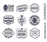 labels with wheel for car... | Shutterstock .eps vector #1249848325