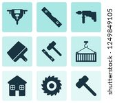 construction icons set with... | Shutterstock .eps vector #1249849105