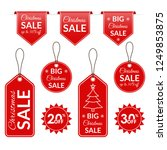 christmas sale tag  label ... | Shutterstock .eps vector #1249853875