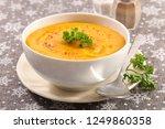 bowl of soup   Shutterstock . vector #1249860358