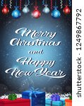 happy new year merry christmas... | Shutterstock .eps vector #1249867792