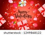 valentines day sale background... | Shutterstock .eps vector #1249868122