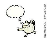 cartoon teapot | Shutterstock .eps vector #124987232