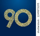 90 th years old logotype.... | Shutterstock .eps vector #1249873195