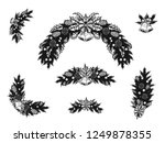set of christmas ornament... | Shutterstock .eps vector #1249878355