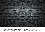 black brick wall of panoramic... | Shutterstock . vector #1249881382