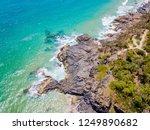 noosa national park aerial view ... | Shutterstock . vector #1249890682