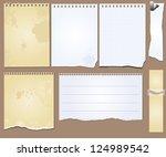 vector set of the grunge... | Shutterstock .eps vector #124989542