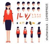 businesswoman character... | Shutterstock .eps vector #1249899835