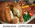 monkey bread closeup. sourdough ... | Shutterstock . vector #1249912018
