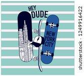 new york skaters. skateboards... | Shutterstock .eps vector #1249916422