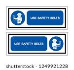 use safety belts symbol sign ... | Shutterstock .eps vector #1249921228
