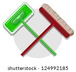 illustration of cleaning... | Shutterstock .eps vector #124992185