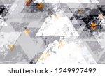 seamless urban geometric grunge ... | Shutterstock .eps vector #1249927492