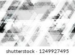 distressed grunge geometric... | Shutterstock .eps vector #1249927495