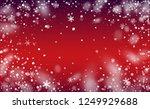 winter snowfall background.... | Shutterstock .eps vector #1249929688