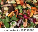 composting pile of rotting... | Shutterstock . vector #124993205