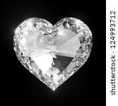Diamond Heart Isolated With...