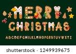 ginger cookies alphabet  merry... | Shutterstock .eps vector #1249939675