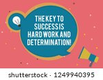 text sign showing the key to... | Shutterstock . vector #1249940395