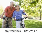 senior couple on cycle ride in... | Shutterstock . vector #12499417