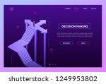 decision making   modern... | Shutterstock .eps vector #1249953802