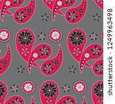 paisley seamless pattern....   Shutterstock .eps vector #1249963498