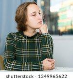 portrait of sorrowful woman... | Shutterstock . vector #1249965622