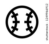 baseball  ball   sport  pixel... | Shutterstock .eps vector #1249966912
