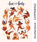 multiracial women of different... | Shutterstock .eps vector #1249968562
