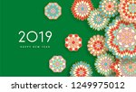 2019 new year greeting card.... | Shutterstock .eps vector #1249975012