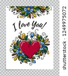 happy valentines day card.... | Shutterstock .eps vector #1249975072
