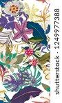flowers pattern fabric | Shutterstock . vector #1249977388