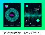 techno music poster. wave flyer ... | Shutterstock .eps vector #1249979752