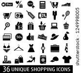 set of 36 shopping icons....   Shutterstock .eps vector #124998005