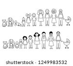 set of happy cartoon doodle... | Shutterstock .eps vector #1249983532