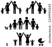 people silhouette family icon.... | Shutterstock .eps vector #1249994335