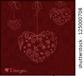 great card for valentine's day ... | Shutterstock .eps vector #125000708
