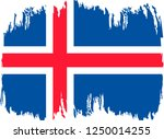 iceland vector grunge brush... | Shutterstock .eps vector #1250014255