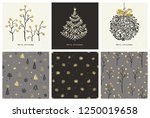 merry christmas collection of... | Shutterstock .eps vector #1250019658