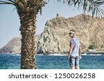 young man with sunglasses in... | Shutterstock . vector #1250026258