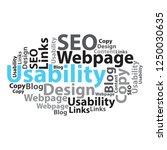 text cloud. seo wordcloud.... | Shutterstock . vector #1250030635