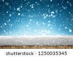 winter christmas background... | Shutterstock . vector #1250035345