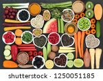 health food for clean eating... | Shutterstock . vector #1250051185