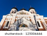 Alexander Nevsky Cathedral Tallinn, Estonia - stock photo