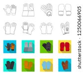 vector illustration of glove... | Shutterstock .eps vector #1250066905