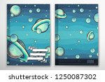 notebook cover template with... | Shutterstock .eps vector #1250087302