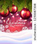 christmas background with... | Shutterstock .eps vector #1250087308
